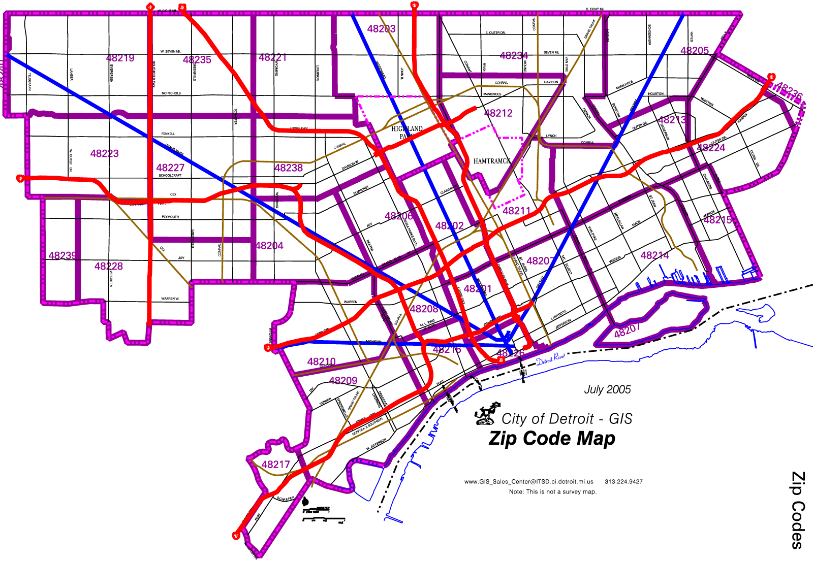 zip code map detroit Detroit Zip Code Map Large Map Zip Code Map Map Coding zip code map detroit