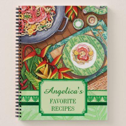 Island Cafe - Stir Fry Recipe Notebook - office ideas diy customize special