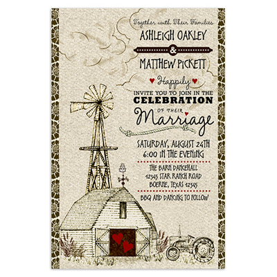 Country Barn Invitations
