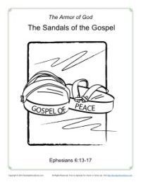 Sandals Of The Gospel Armor Of God Armor Of God Lesson Sunday