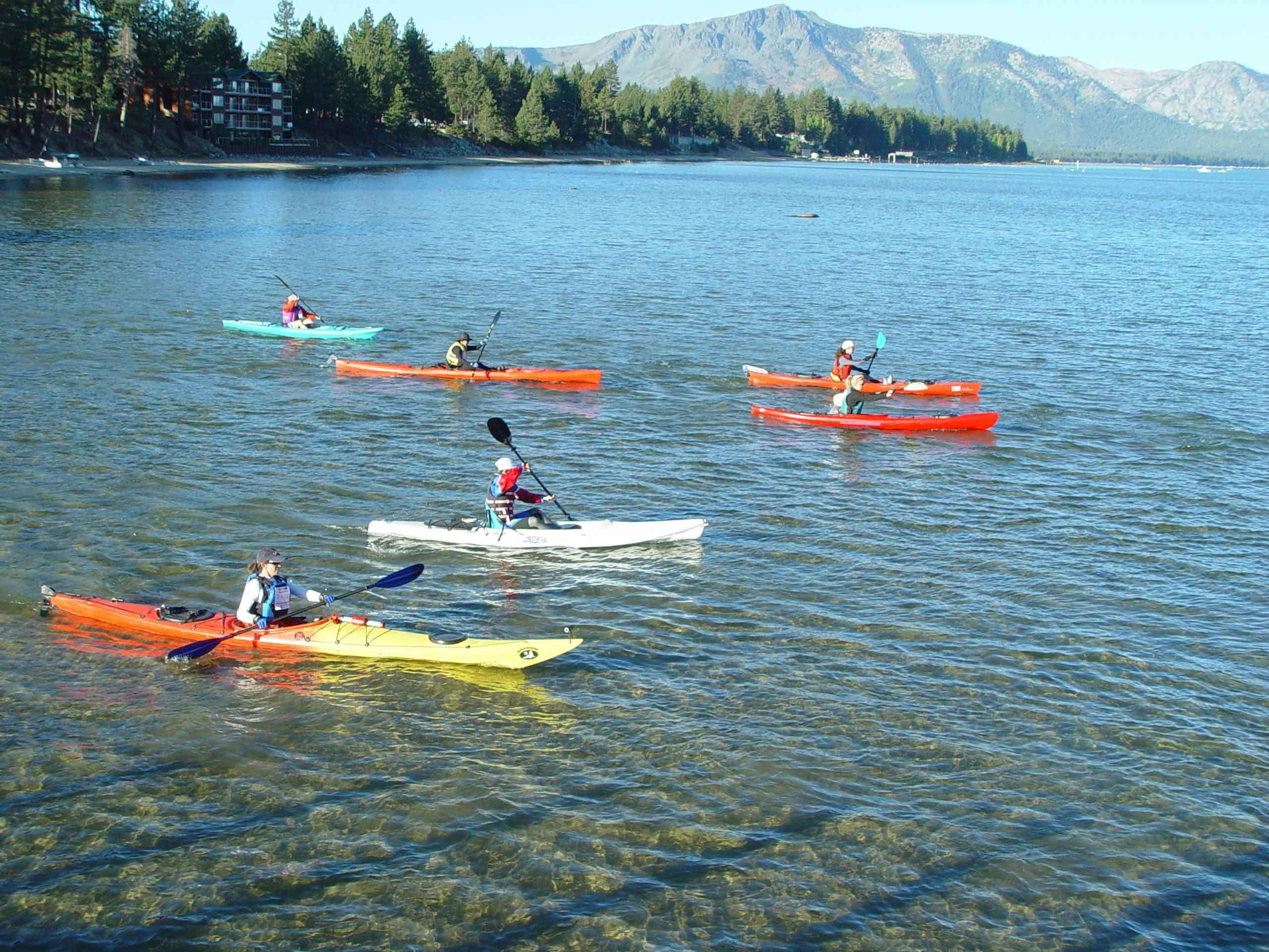 Resultado de imagen de kayak en el lago tahoe