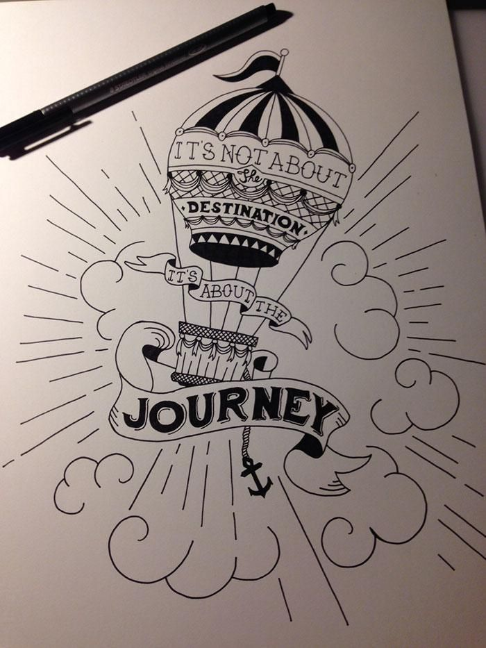 It S Not About The Destination It S About The Journey Meaningful Drawings Doodle Art Hand Lettering ℹmaterials i have usedℹ 1. meaningful drawings doodle art