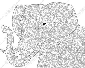 Inspirational Giraffe and Elephant Coloring Pages - Info ...