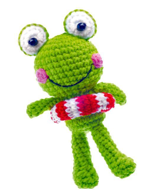 Frosch M Rettungsring Häkel Anhänger Neu Schlüsselanhänger Gehäkelt