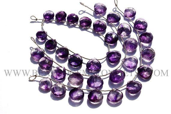 Natural Moos Amethyst Heart Faceted Beads Quality AA 13 to #mossamethyst #mossamethystbeads #mossamethystbead #mossamethystheart #heartbeads #beadswholesaler #semipreciousstone #gemstonebeads #beadsogemstone #beadwork #beadstore #bead