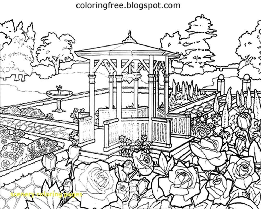 Coloring Pages For Adults Nature New Coloring Scenery Coloring