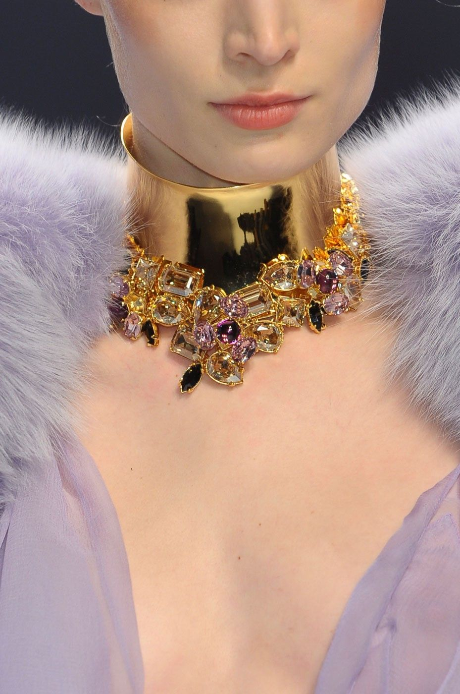 "Alexandre Vauthier - Fashion - Night gown - Fur - Necklace - Jewellery ""…He Made you garments.."" Surah Nahl, 81 ""….giyimlikler de Var etti..."" Nahl Suresi, 81"