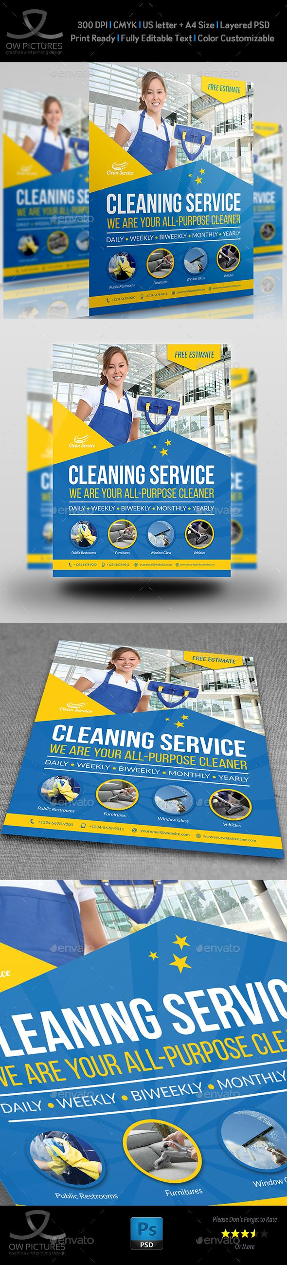 Cleaning Services Flyer Template Vol.4   Cleaning service, Flyer ...