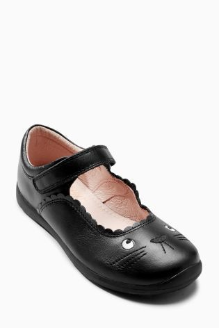Buy Black Mary Jane Cat Shoes Older Girls Online Today At Next