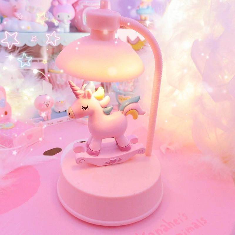 Melody And Unicorn Night Lights Pn0976 Size 15 9 5 Cm Material Plastic You Need To Prepare 3 Batteries Cute Bedroom Decor Night Light Cute Night Lights