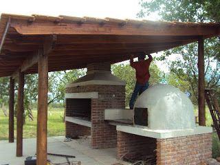 Techo de madera y teja techos madera pinterest for Techos rusticos para galerias