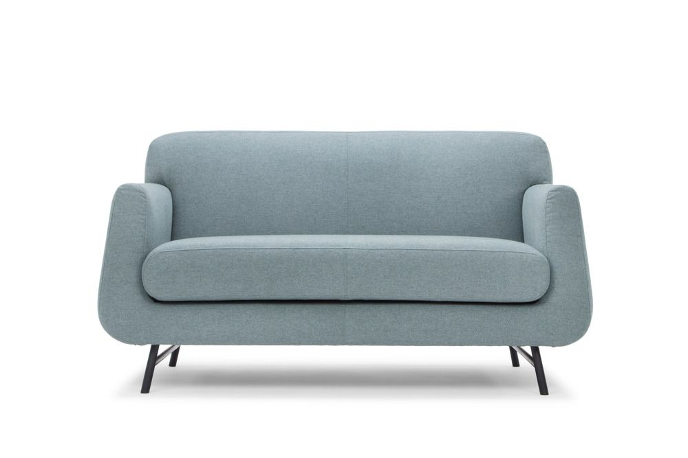 Our Two Seater Ragan Sofa Is Perfect For Smaller Spaces Deceptively Spacious Sleek Metal Le Contemporary Small Sofa Contemporary Modern Furniture Comfy Sofa