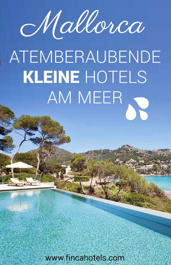 Wer keine Lust auf ein großes, anonymes Hotel hat, aber sich nach Strandurlaub sehnt, hat es nicht leicht. Wir haben für euch die schönsten KLEINEN Strandhotels auf Mallorca entdeckt - vom romantischen Boutiquehotel für das schmale Budget bis zum extravaganten Luxushotel. #urlaub #mallorca #strandhotel #strandurlaub #luxushotel #fincahotel #boutiquehotel