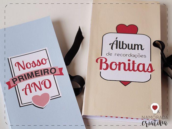Diy Mini Album De Recordacoes Para Aniversario De Namoro Com