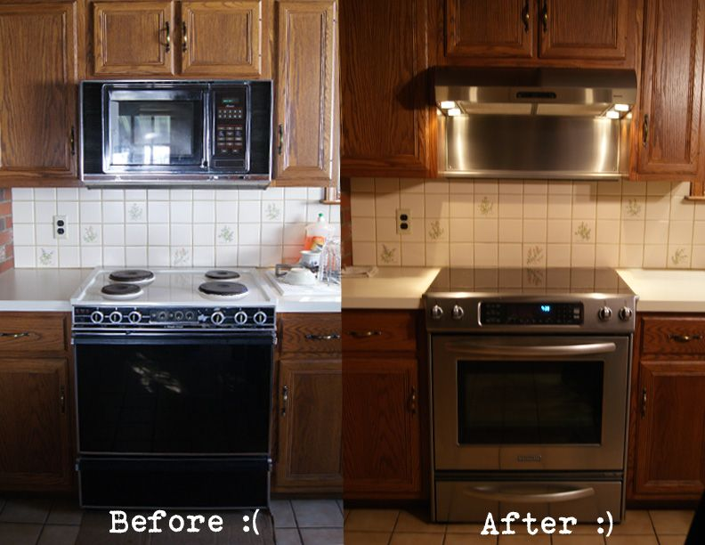 replacing old over the range microwave