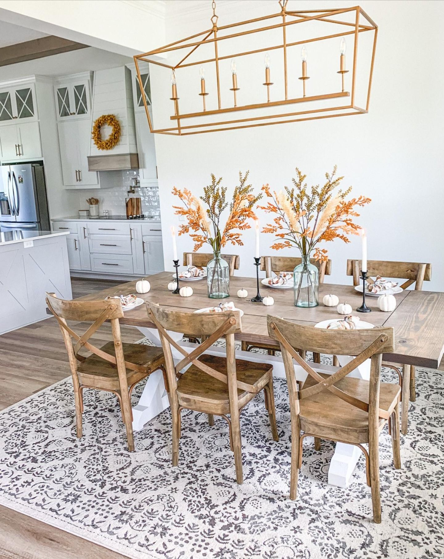 Designed By Thewhitehouseonpineridge Thanksgiving Dining Room Home Farmhouse Dining Room