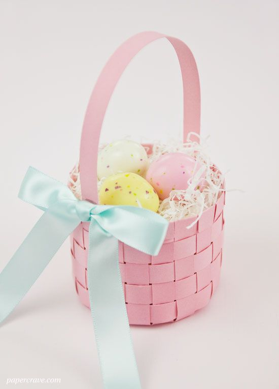 Free Woven Paper Easter Basket Template Tutorial Easter