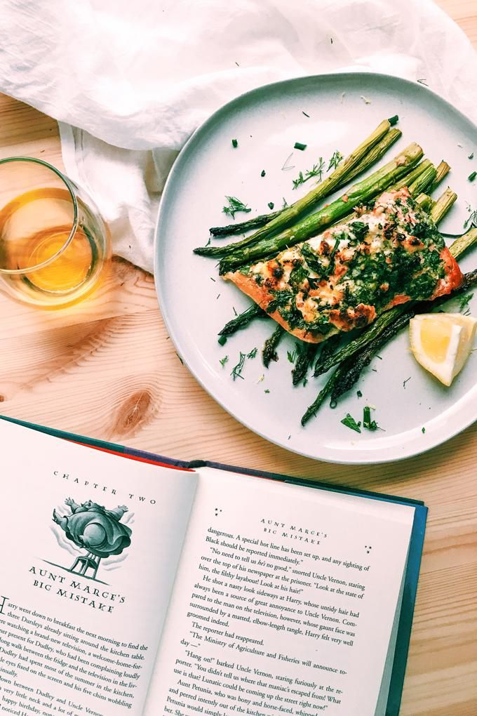 Petunia Dursley's Fancy Roasted Salmon with Feta and Herbs