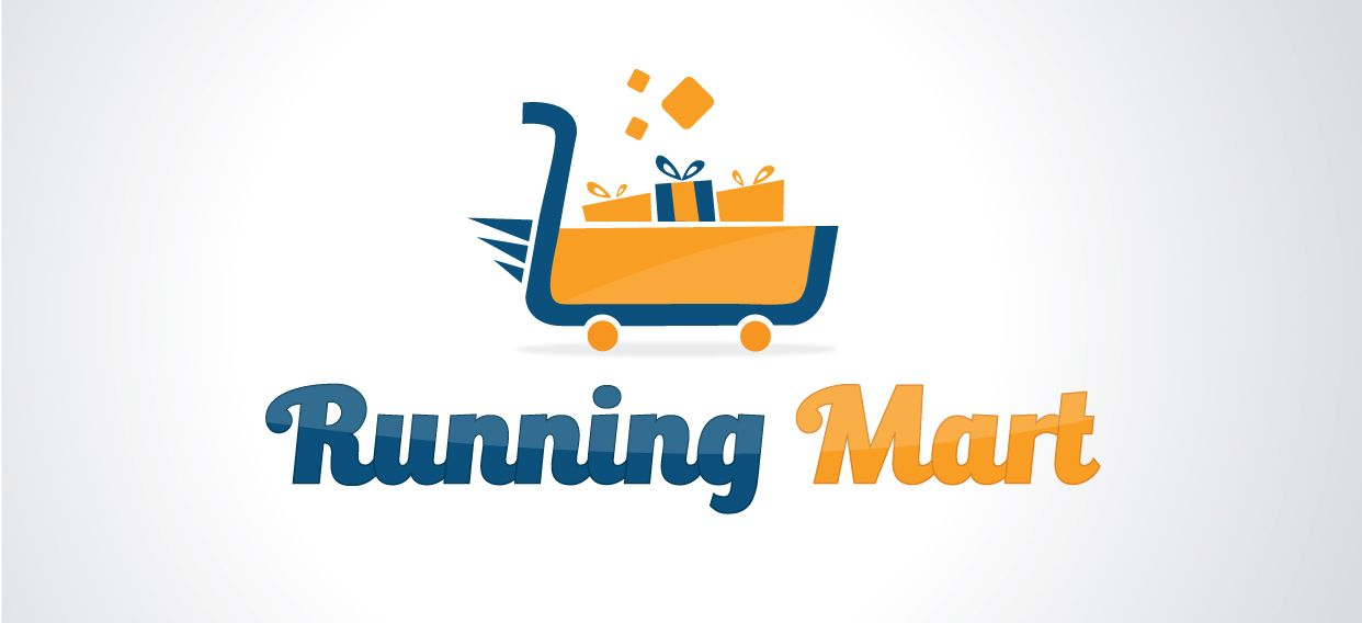 Designed Logo For Runing Mart using Illustrator and Photoshop
