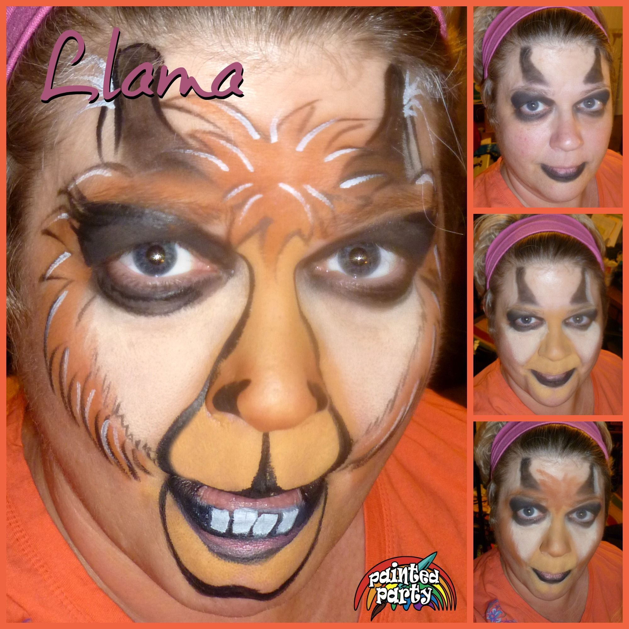 Uncategorized Step By Step Face Painting llama face paint by denise cold of painted party starblend makeup base with paint