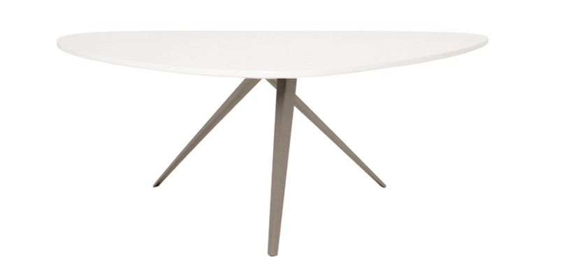 Table Basse Design Triangulaire Elin - Blanc Laqué | Maison ...