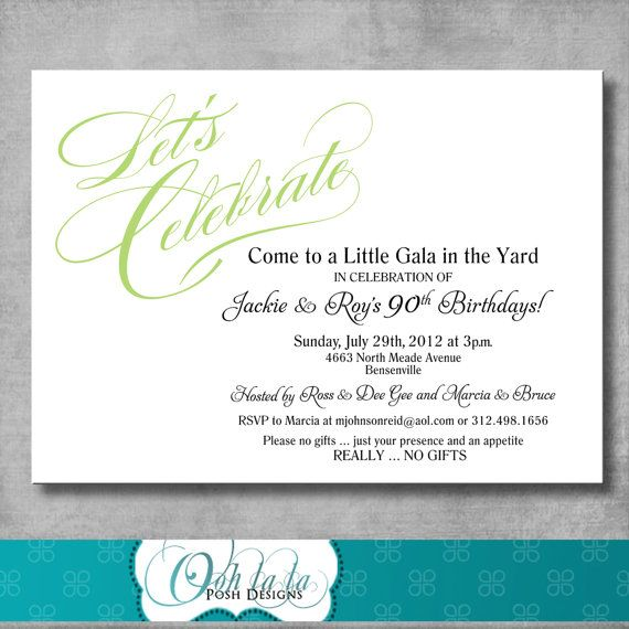 Printable Adult Birthday Party Invitation by OohlalaPoshDesigns - how to word a birthday invitation