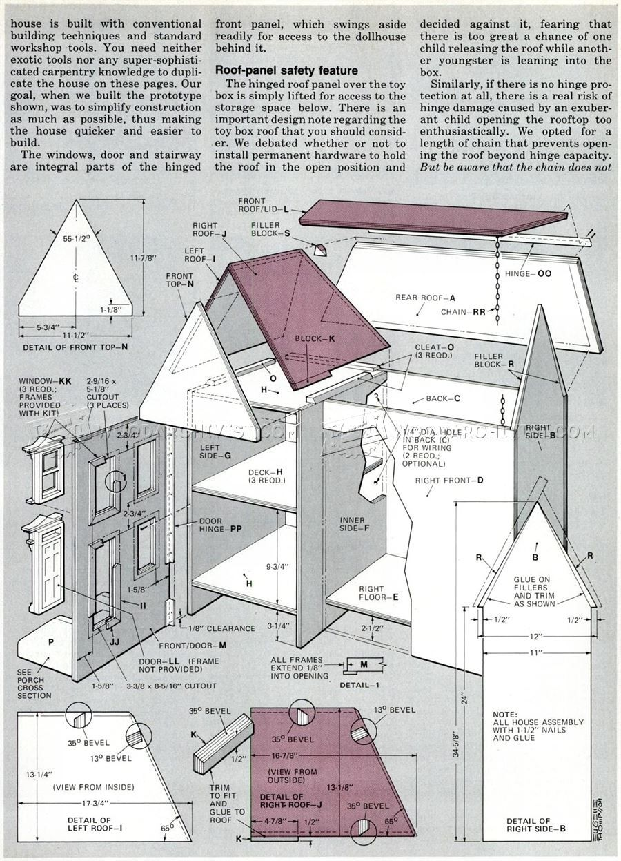 wooden doll house plans - wooden toy plans | dolls houses