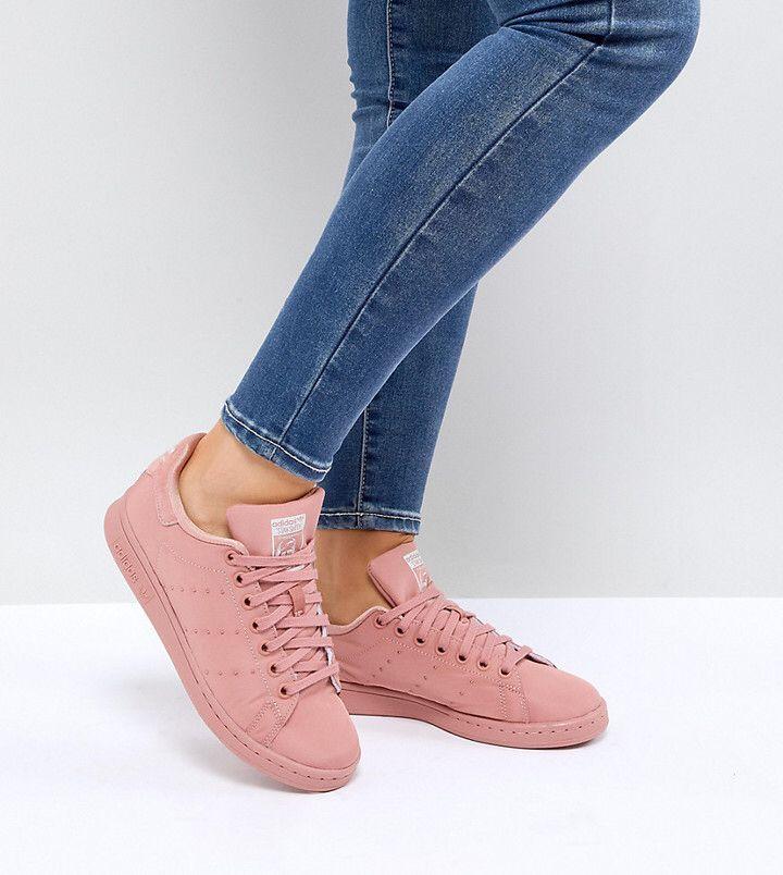adidas stan smith di raso rosa trapuntata scarpe originali sneakerhead