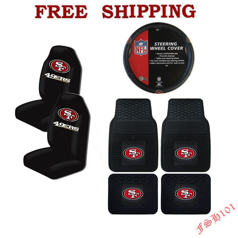 NFL San Francisco 49ers Car Truck Steering Wheel Cover
