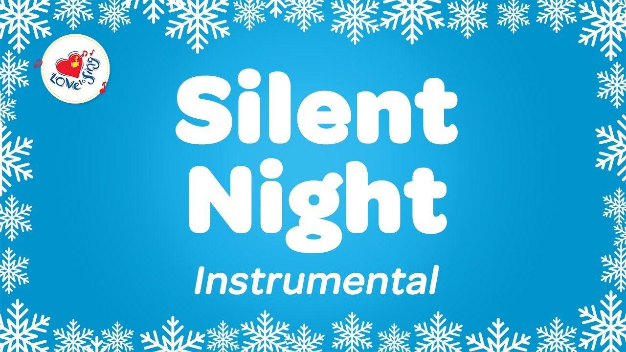 Karaoke Christmas Songs.Christmas Instrumental Silent Night With Sing Along