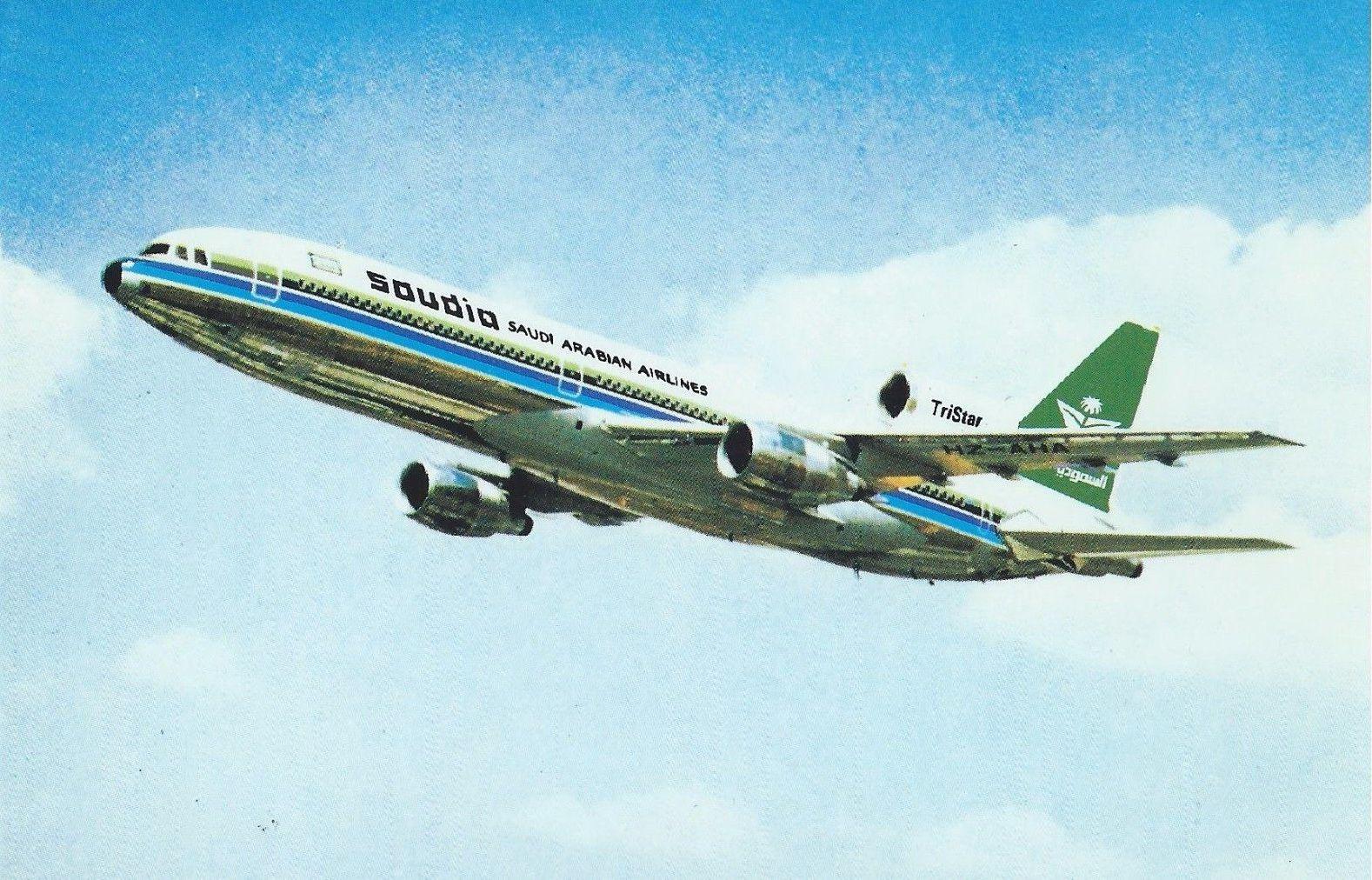 Saudia Saudi Arabian airlines Lockheed L1011 Tristar postcard