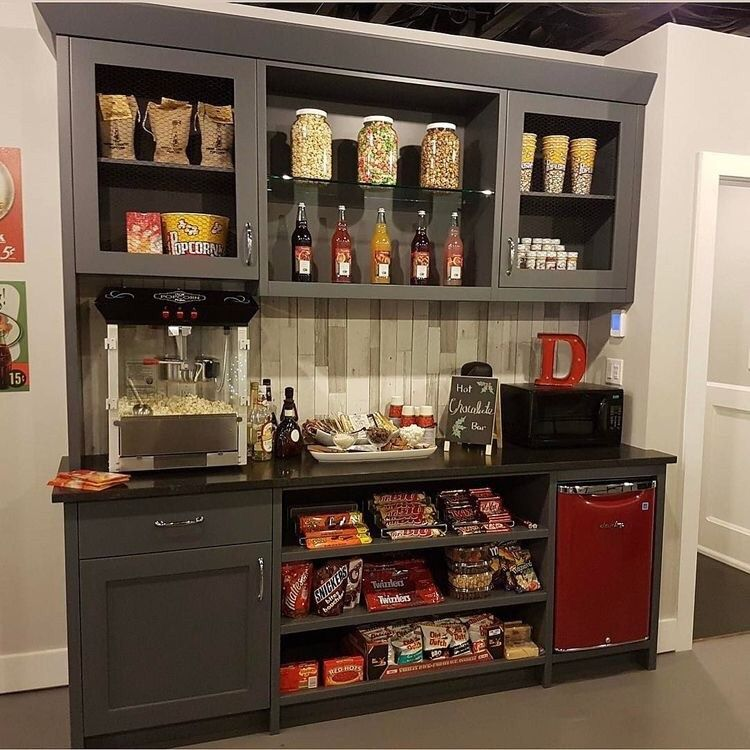 Theater Room Snack Bar: Concession Stand- Home Theatre (With Images)