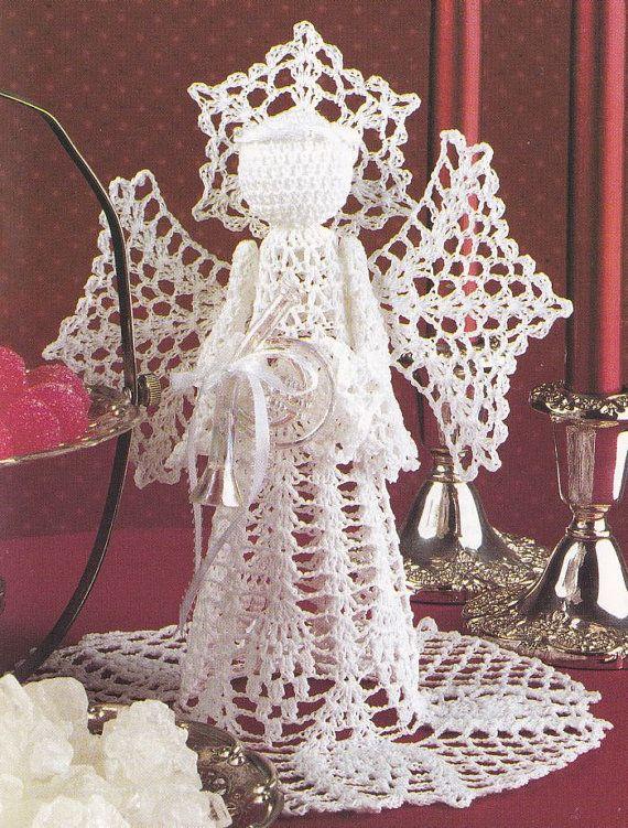 Angel Crochet Pattern - Christmas Tree Topper | Ángeles, Tejido y ...