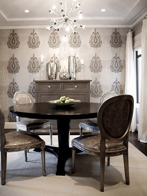 Muted Dining Room Small Dining Room Decor Fine Dining Room Dining Room Wallpaper