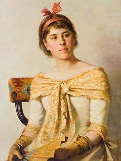 Elin Kleopatra Danielson-Gambogi (1861-1919). Finnish painter.