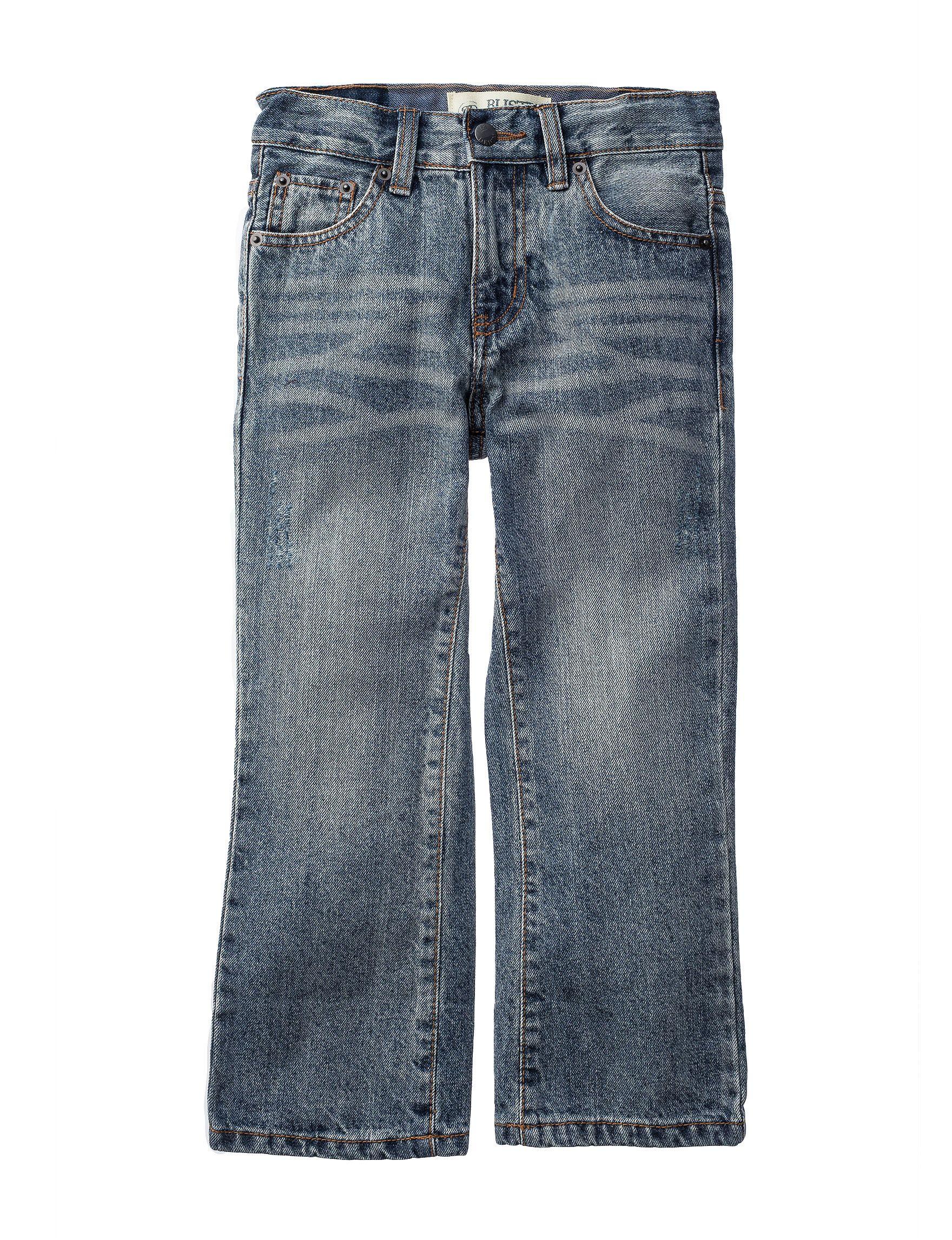 Rustic Blue Light Vintage Tint Bootcut Jeans Toddlers Boys 4 7 Rustic Blue Bootcut Jeans Toddler Boys