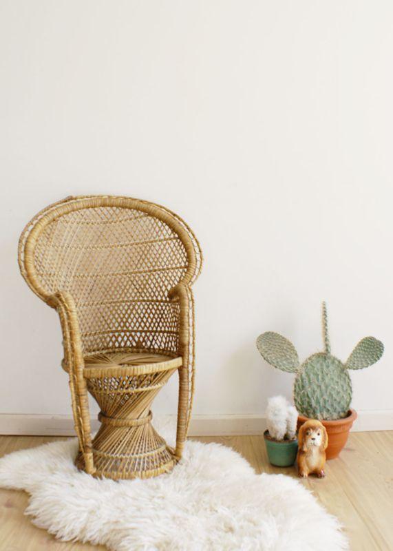Rotan Stoeltje Voor Kinderen.Rotan Vintage Pauwenstoel Voor Kinderen Retro Boho