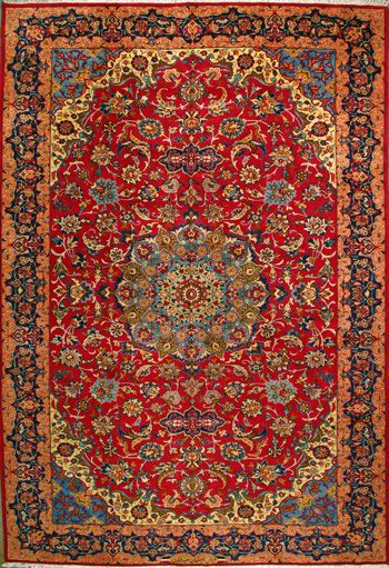 Esfahan Persian Rug Tapete Persa Papel Decorativo Tapete