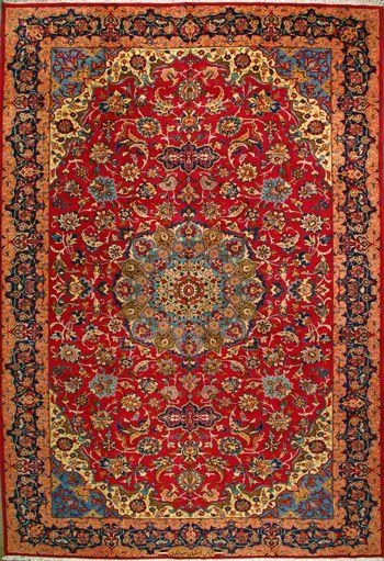 Esfahan Persian Rug Tapete Persa Papel Decorativo Tapete
