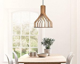 Hout verlichting plafond pendant lamp multiplex kroonluchter moderne ...