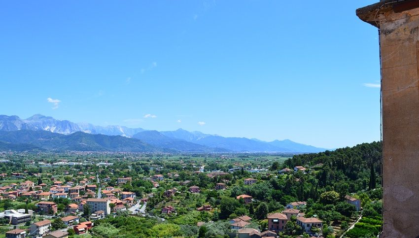 View across Tuscany and Liguria from Ameglia village.