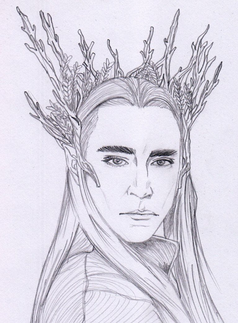 thrandruil Coloring Page Thranduil Sketch by AeneaJones