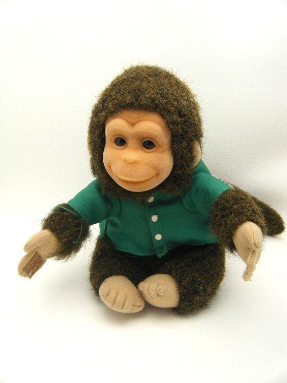 Vintage 1994 HOSUNG Stuffed Monkey Chimp by TreasureHuntressNora