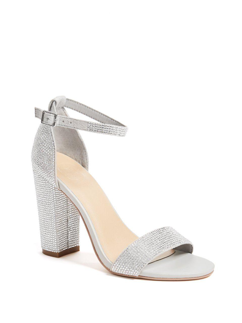 1c11a5296393 Disco Rhinestone Ankle-Strap Heels in 2019
