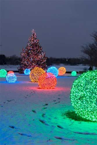 diy christmas light balls - Outdoor Christmas Lights Decorations