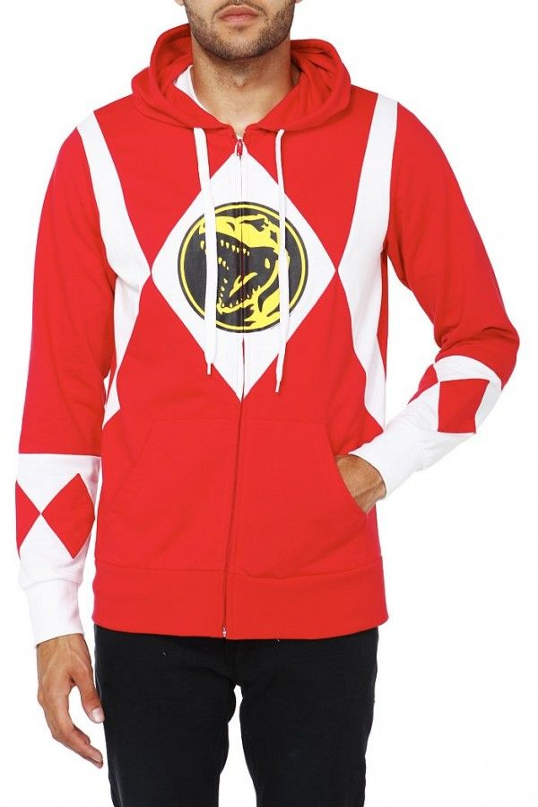 31071111 Red Power Rangers Hoodie | Fashion | Power rangers t shirt, Mighty ...