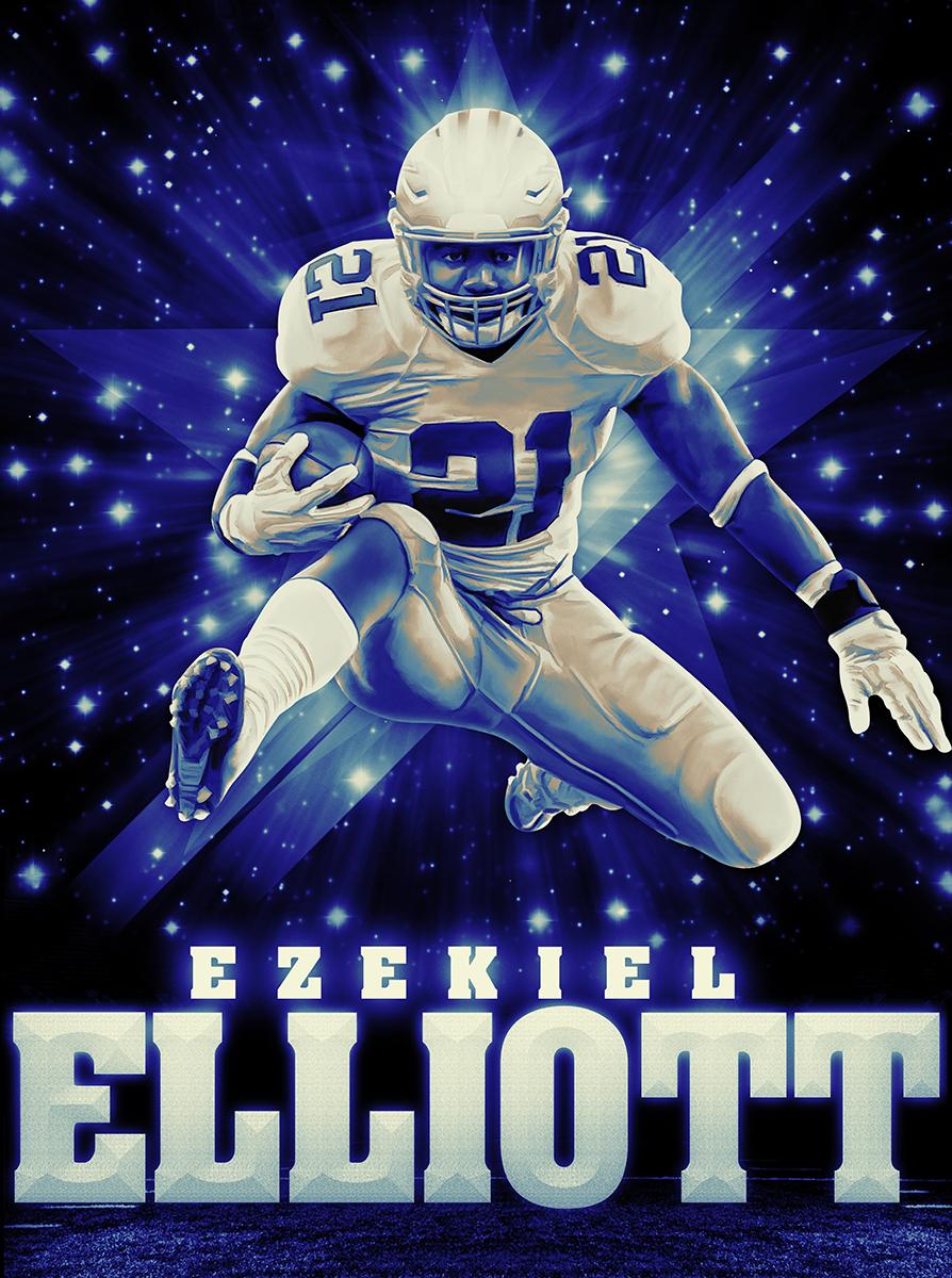 Dak Prescott and Ezekiel Elliott posters | touchdown ...