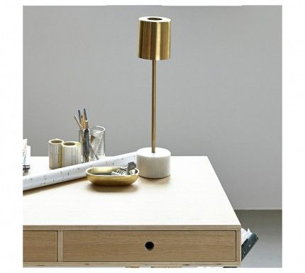 Lampe Marbre Laiton House Doctor By Etoile And Company