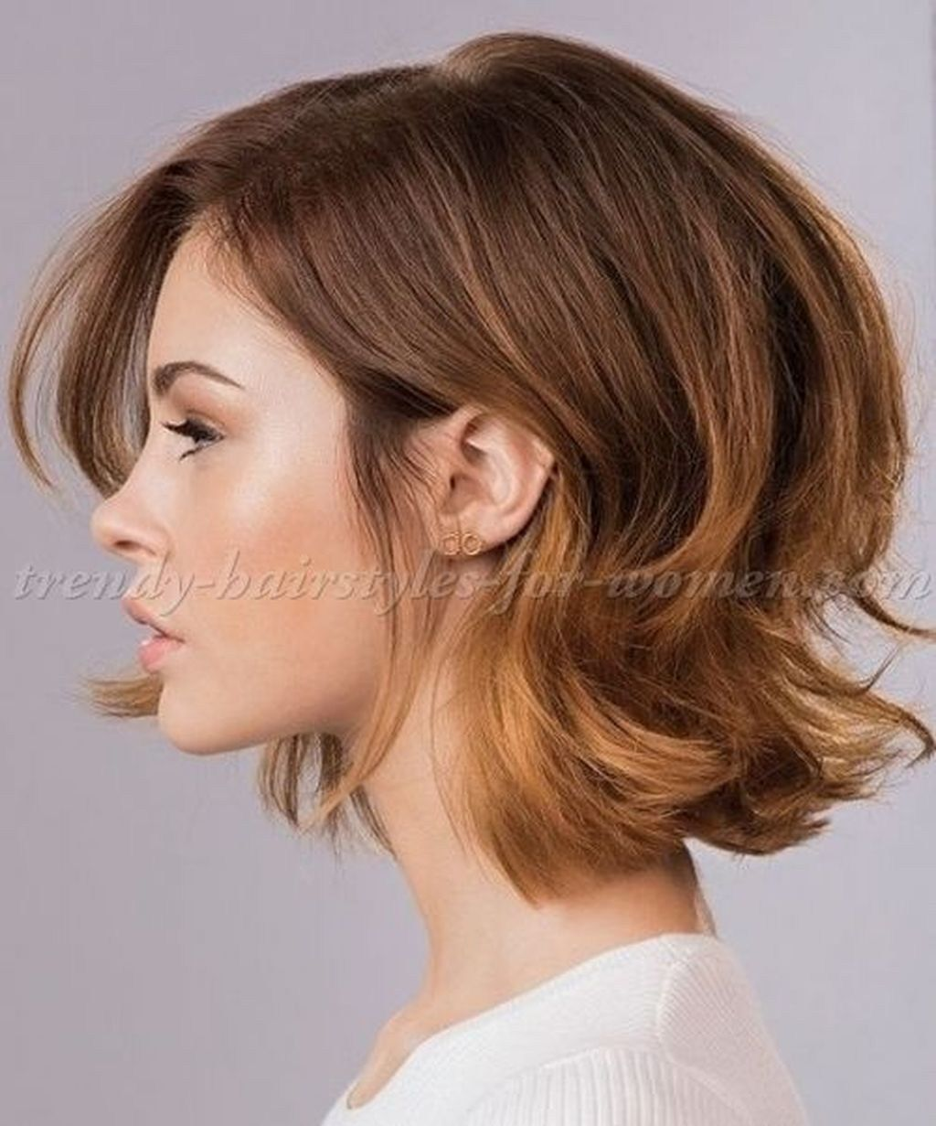 Stunning Short Brown Hairstyle Ideas For Women10 Womens Hairstyles Hair Styles Medium Hair Styles