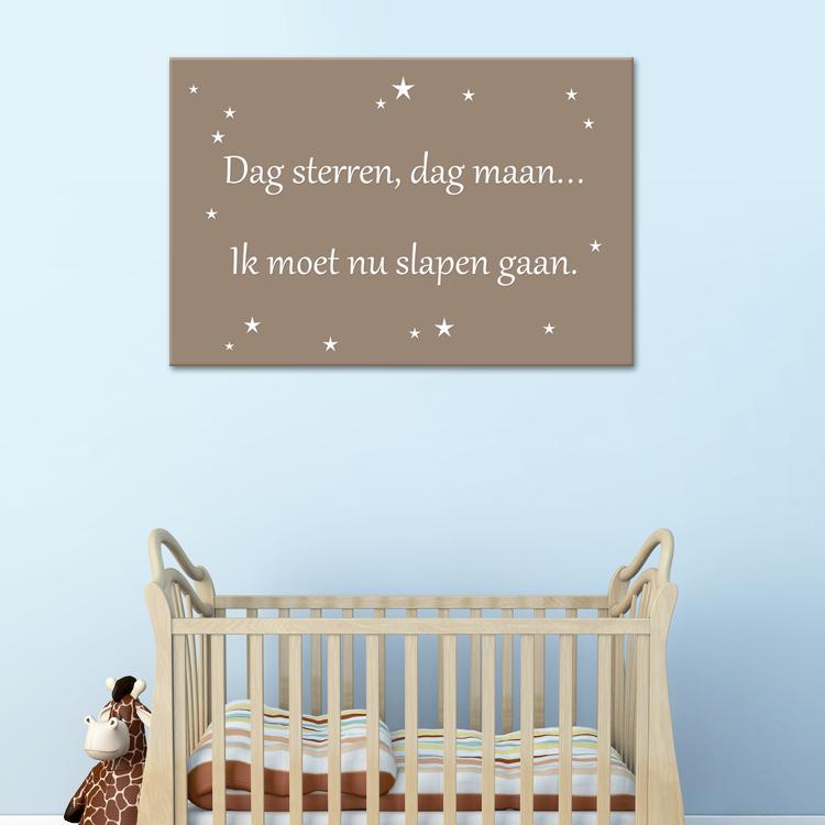 tekst op canvas - dag sterren | babykamer teksten | pinterest, Deco ideeën